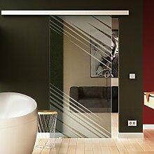 Schiebetür in Glas 205x102,5 cm (HxB) Dessin: