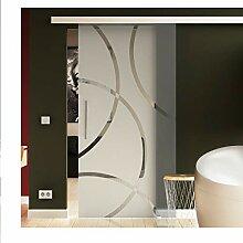 Schiebetür in Glas 205x90 cm (HxB) Dessin: Circle