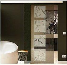 Schiebetür in Glas 217,5x77,5 cm (HxB) Dessin: