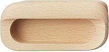 Schiebetür-Möbelgriff Buchen-Holz Einlass-Muschelgriff OVAL für Türen & Schubladen - Modell H1855 | Griffmuschel Ø 108 mm | Möbelbeschläge von GedoTec®