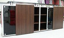 Schiebetüren-Büro Sideboard Expendo Line Ahorn