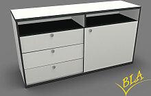 Schiebetüren-Schubladen-Sideboard Pendo 120 x 80