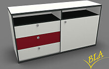 Schiebetüren-Schubladen-Sideboard Pendo 160 x 80