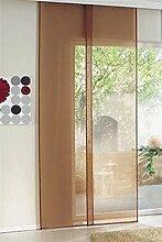 Schiebevorhang 60x240cm Vorhang transparent karamell