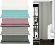 Schiebevorhang - aus leicht changierender Grundware - in 5 Farben - Maße ca. 245 cm x 60 cm, taupe