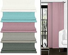 Schiebevorhang - aus leicht changierender Grundware - in 5 Farben - Maße ca. 245 cm x 60 cm, altrosa