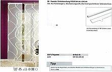 Schiebevorhang Digitaldruck Vegas weiß 60x245 cm