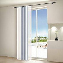 Schiebevorhang Flächenvorhang Schiebegardine - Farbe 40179-0800 Blau - (BxH) 60 x 245 cm