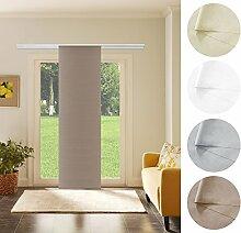 Schiebevorhang Schiebegardine Coffee Blickdicht 60cm x 245cm Flächenvorhang Gardine