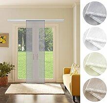 Schiebevorhang Schiebegardine Grau Transparent 60cm x 245cm Flächenvorhang Gardine
