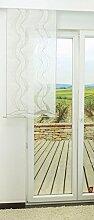 Schiebevorhang von LYSEL® - Curly transparent in den Maßen 120 cm x 60 cm beige