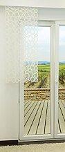 Schiebevorhang von LYSEL® - Kieselsteine transparent in den Maßen 140 cm x 40 cm weiß/cremeweiß