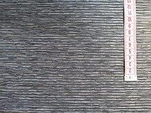 Schiebevorhangstoff anthrazit meliert 40cm breit Bambusoptik