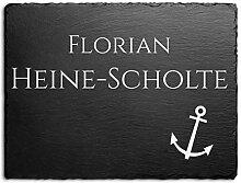 Schiefer Hausnummer & Straße Namen 14,5x11 cm