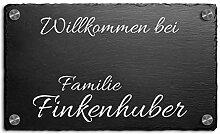 Schiefer Hausnummer & Straße Namen 25x15 cm