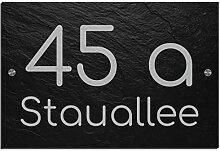 Schiefer Hausnummer & Straße Namen 30x20 cm