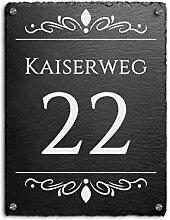 Schiefer Hausnummer & Straße Namen 30x40 cm