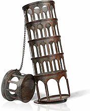 Schiefer Turm förmige Metallweinflaschenhalter