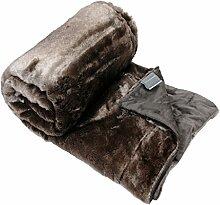 Schiesser Fake Fur Decke Fellimitat mit Wendeoptik