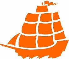 Schiff Aufkleber 001, 50 cm, orange