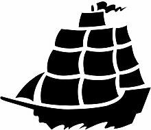Schiff Aufkleber 001, 50 cm, schwarz