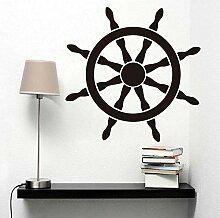 Schiff Helm Vinyl Wandaufkleber Navigations Strand