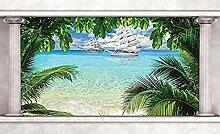 Schiff türkis ozean fototapete wandbild vlies