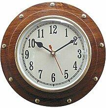 Schiffs- Uhr, Wanduhr im Bullauge, Maritime Wanduhr, Quartzwerk