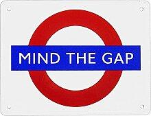 Schild 'Mind the Gap' Größe M (215 x 165