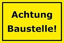 Schild Achtung Baustelle - 15x20cm, 30x20cm und
