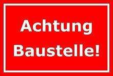 Schild Achtung Baustelle – 15x20cm, 30x20cm und