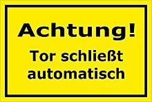 Schild Achtung – Tür schließt automatisch –