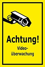 Schild Achtung Videoüberwachung – 15x20cm,