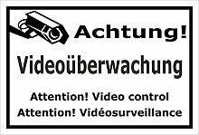 Schild – Achtung Videoüberwachung –