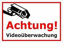 Schild Achtung Videoüberwachung Kamera –