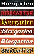 Schild Biergarten – Holzoptik – 52x11cm – 6