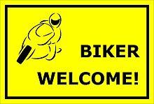 Schild Biker welcome - 15x20cm, 30x20cm und