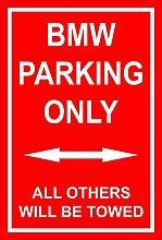 Schild – BMW parking only – 30x20cm, 45x30cm,