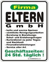 Schild: Eltern GmbH