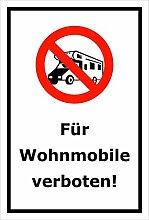 Schild – Für Wohnmobile verboten – 15x20cm,