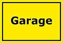 Schild - Garage - 15x10cm, 30x20cm und 45x30cm -