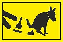Schild – Hier ist kein Hundeklo – Bitte Hundekot entfernen – 15x10cm, 30x20cm und 45x30cm – Bohrlöcher Aufkleber Hartschaum Aluverbund -S00187-007-C