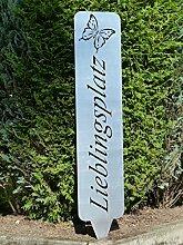Schild, Hinweisschild, Gartenschild (Lieblingsplatz)