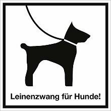 Schild Leinenzwang für Hunde! Alu 30 x 30cm