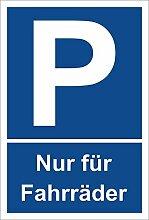 Schild - Nur für Fahrräder - Parkplatzschild