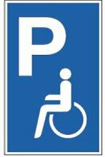 Schild Parkplatz für Behinderte Alu 40 x 25cm