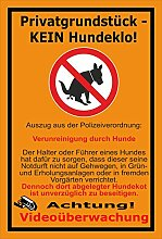 Schild -Privatgrundstück - Kein Hundeklo -