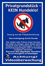 Schild –Privatgrundstück - Kein Hundeklo –