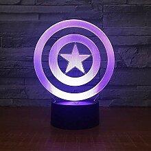 Schild Thema 3D LED Lampe Nachtlicht 7 Farben