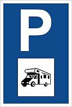Schild – Wohnmobil – Parkplatzschild Parken